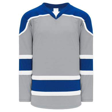 H7500-450 Grey/Royal/White League Style Blank Hockey Jerseys