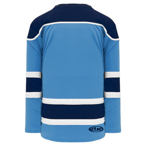 H7500-475 Sky/Navy/White League Style Blank Hockey Jerseys