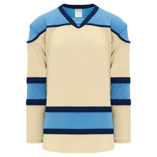 H7500-545 Sand/Sky/Navy League Style Blank Hockey Jerseys