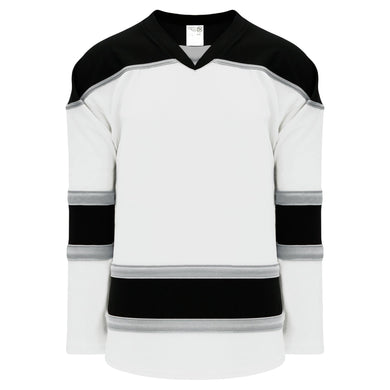 H7500-627 White/Black/Grey League Style Blank Hockey Jerseys