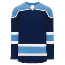 H7500-761 Navy/Sky/White League Style Blank Hockey Jerseys