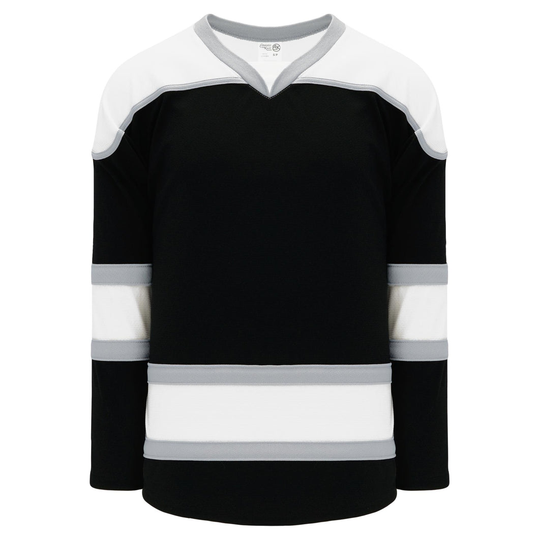 H7500-918 Black/White/Grey League Style Blank Hockey Jerseys