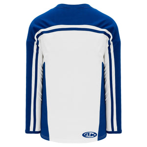 H7600-207 White/Royal League Style Blank Hockey Jerseys