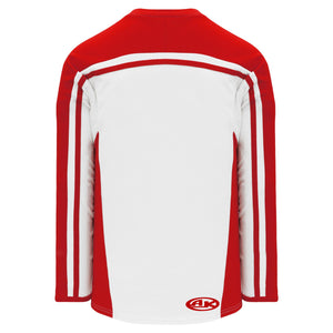 H7600-209 White/Red League Style Blank Hockey Jerseys