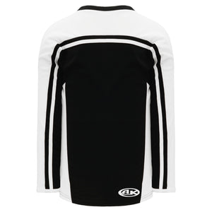 H7600-221 Black/White League Style Blank Hockey Jerseys