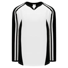 H7600-222 White/Black League Style Blank Hockey Jerseys