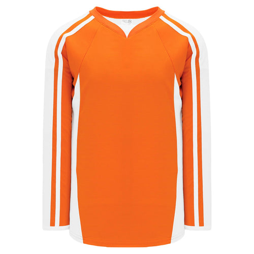 H7600-238 Orange/White League Style Blank Hockey Jerseys