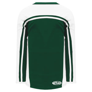 H7600-260 Dark Green/White League Style Blank Hockey Jerseys