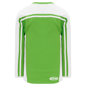 H7600-271 Lime Green/White League Style Blank Hockey Jerseys