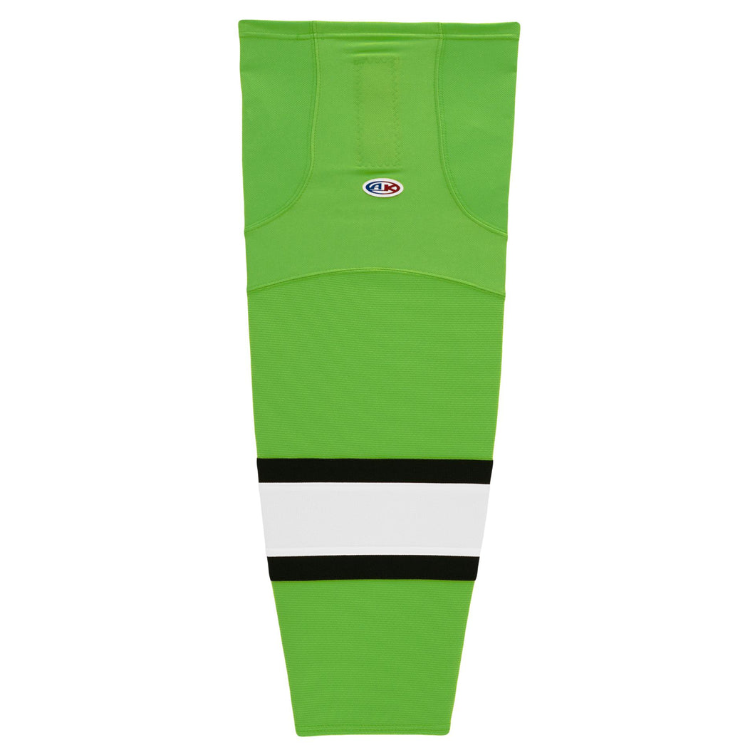 HS2100-107 Lime/Black/White Hockey Socks