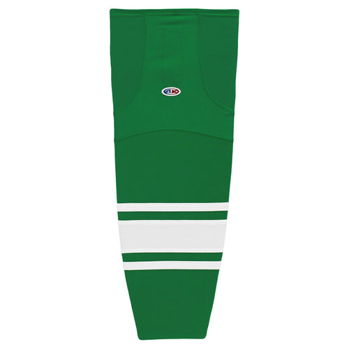 HS2100-210 Kelly/White Hockey Socks