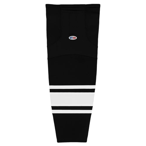 HS2100-221 Black/White Hockey Socks