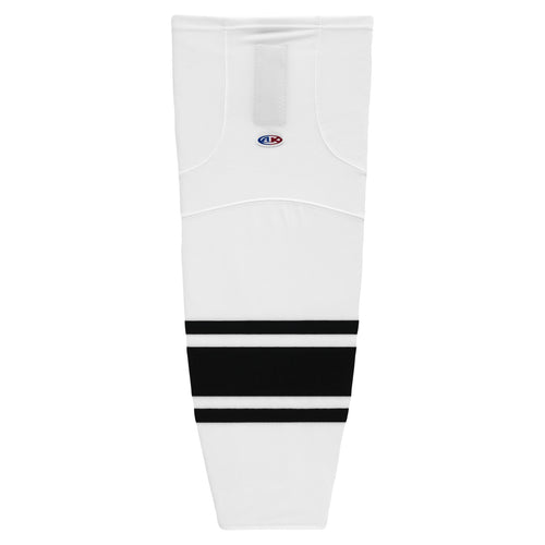 HS2100-222 White/Black Hockey Socks