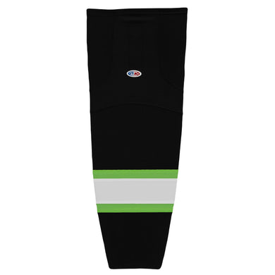HS2100-247 Black/Lime/White Hockey Socks