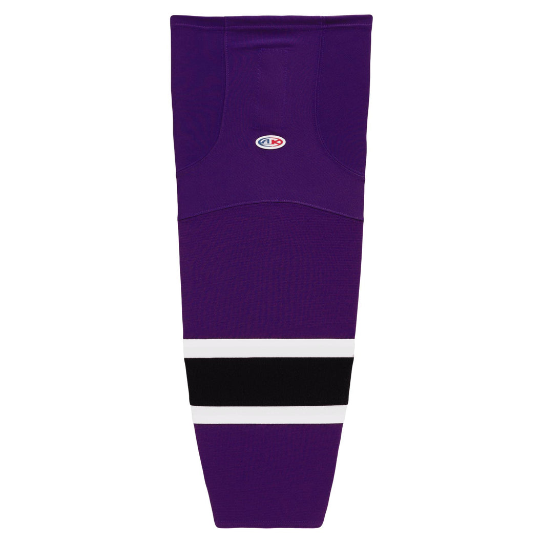 HS2100-438 Purple/White/Black Hockey Socks