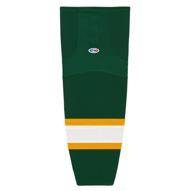 HS2100-439 Dark Green/Gold/White Hockey Socks