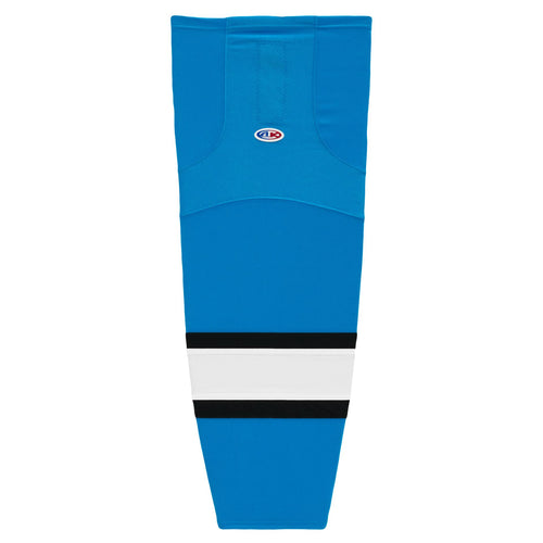 HS2100-444 Blue/Black/White Hockey Socks
