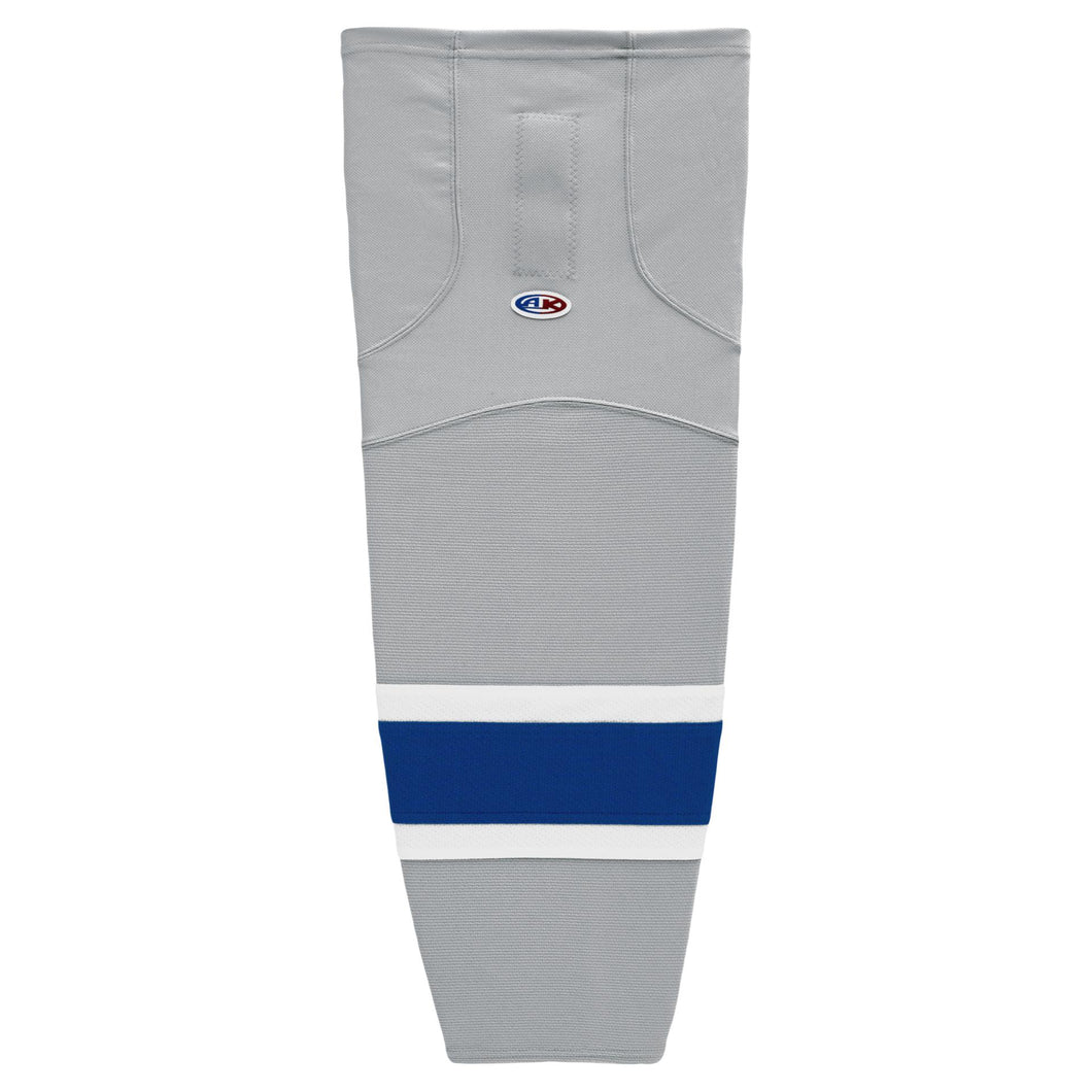 HS2100-450 Grey/Royal/White Hockey Socks