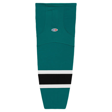 HS2100-457 Teal/White/Black Hockey Socks