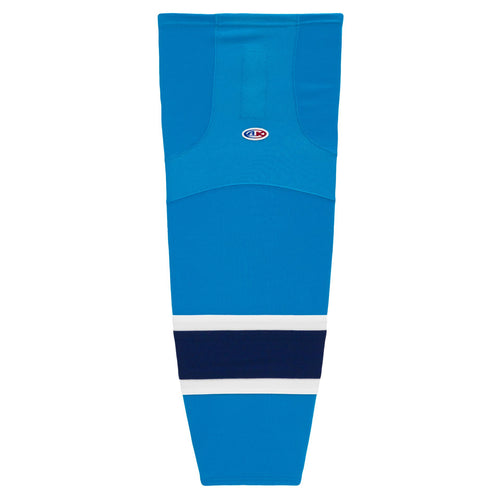 HS2100-468 Blue/White/Navy Hockey Socks