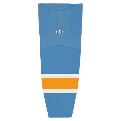HS2100-473 Sky/White/Gold Hockey Socks