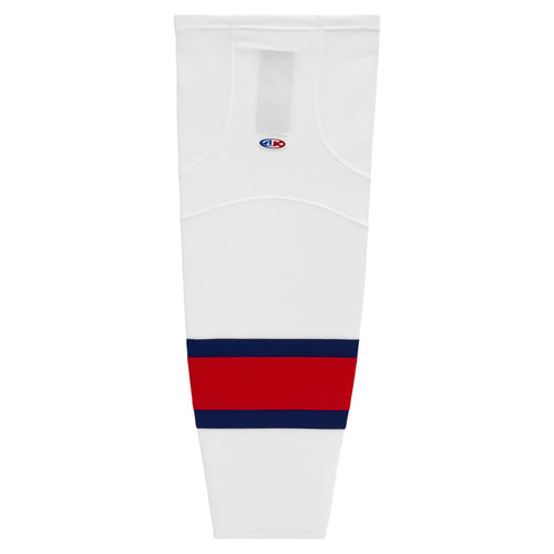 HS2100-765 White/Navy/Red Hockey Socks