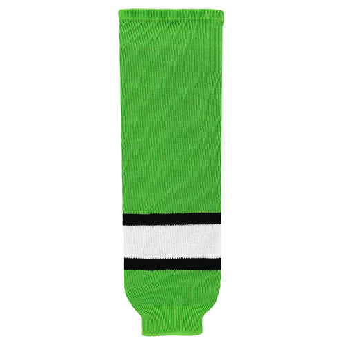 HS630-107 Lime/Black/White Hockey Socks