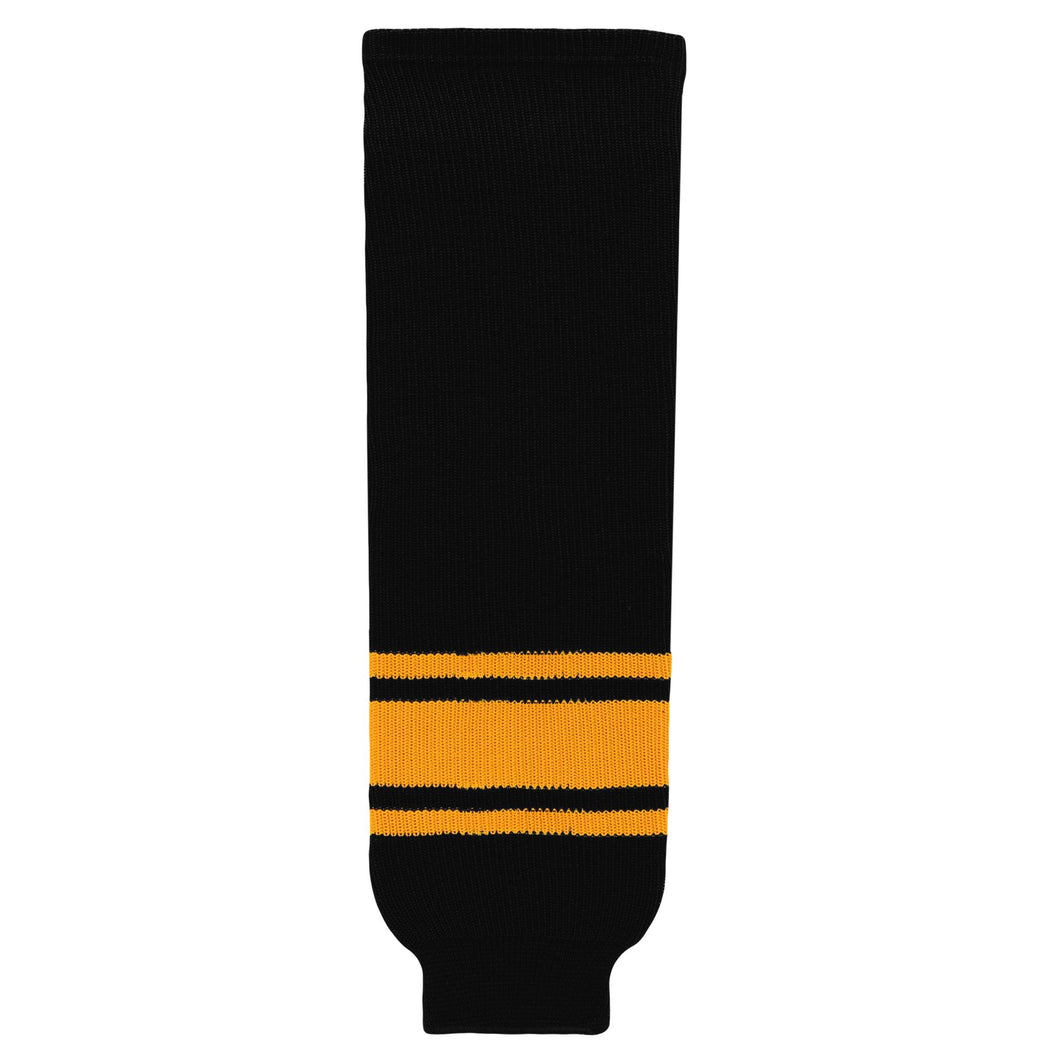 HS630-212 Black/Gold Hockey Socks