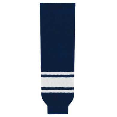 HS630-216 Navy/White Hockey Socks