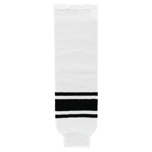 HS630-222 White/Black Hockey Socks