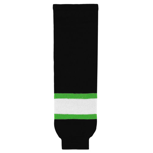 HS630-247 Black/Lime/White Hockey Socks