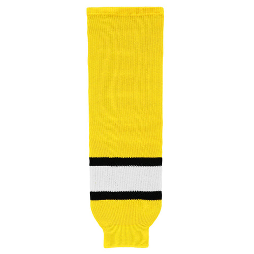 HS630-256 Maize/Black/White Hockey Socks