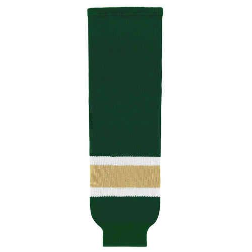 HS630-262 Dark Green/White/Vegas Hockey Socks