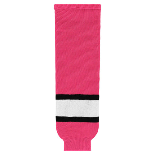 HS630-272 Pink/White/Black Hockey Socks