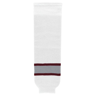 HS630-342 White/Maroon/Grey Hockey Socks