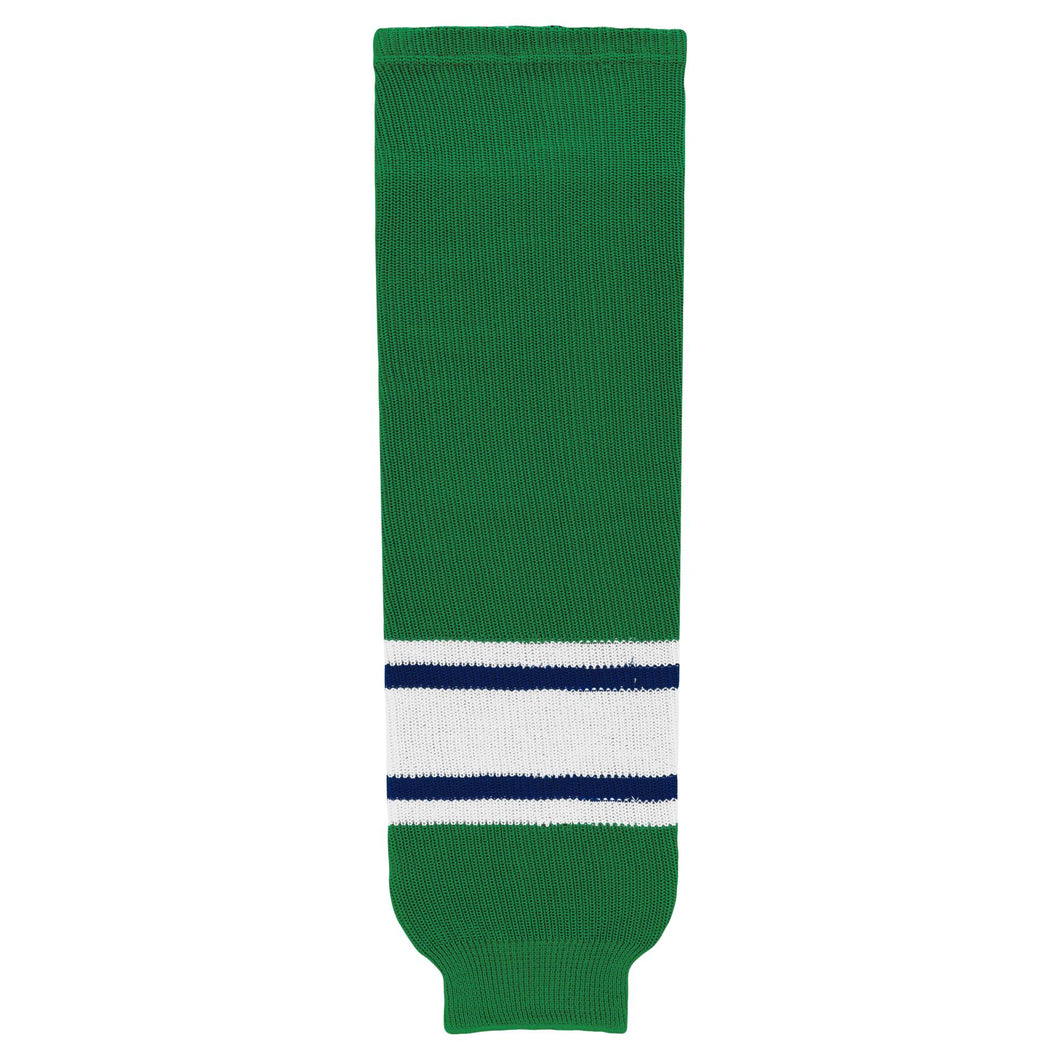 HS630-347 Kelly/Royal/White Hockey Socks