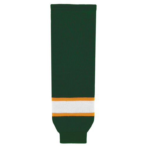 HS630-439 Dark Green/Gold/White Hockey Socks