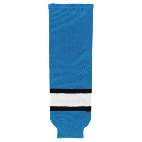 HS630-444 Pro Blue/Black/White Hockey Socks