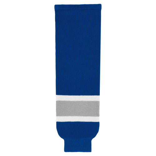 HS630-446 Royal/Grey/White Hockey Socks