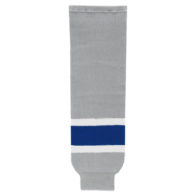 HS630-450 Grey/Royal/White Hockey Socks