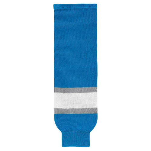 HS630-459 Pro Blue/Grey/White Hockey Socks