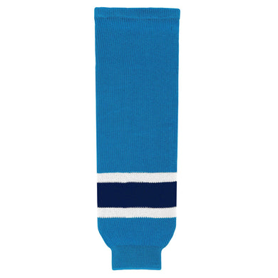 HS630-468 Pro Blue/White/Navy Hockey Socks