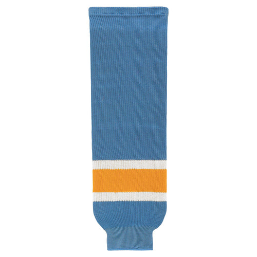 HS630-473 Sky/White/Gold Hockey Socks