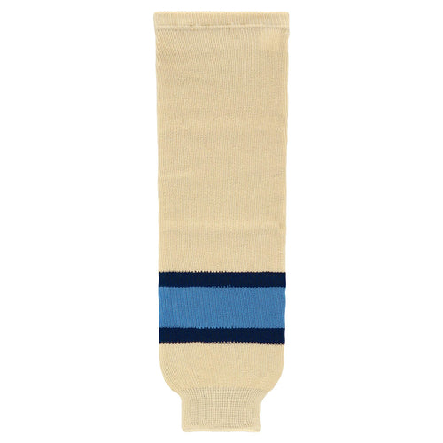 HS630-545 Sand/Navy/Sky Hockey Socks