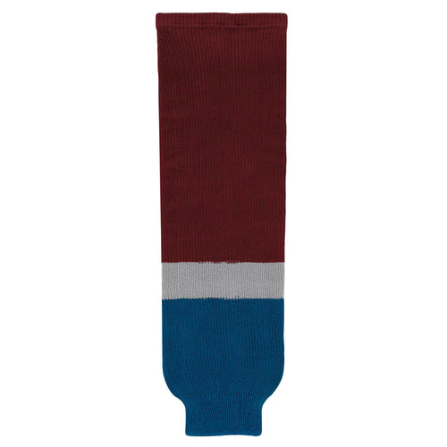 HS630-804 Colorado Avalanche Hockey Socks