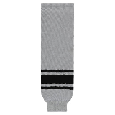 HS630-822 Grey/Black Hockey Socks