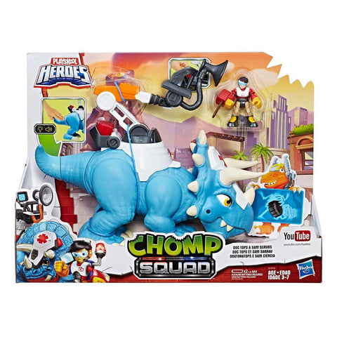 Playskool Héroes Chomp Squad Doc Top y Sam Scrubs Hasbro