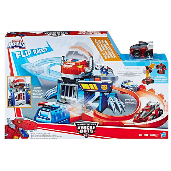 Hasbro Robots Transformers Flip Racers Chomp y Chase Raceway