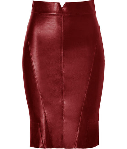 Diapo Leather Calfskin Pencil Skirt  DL - PS1502