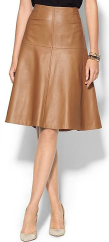Women's Cowhide Leather Skirt